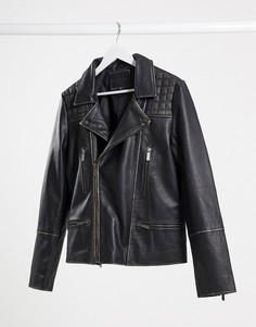 Байкерская кожаная куртка Bolongaro Trevor-Черный