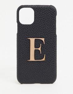 """Чехол для iPhone 11 / XR с инициалом """"E"""" Elie Beaumont-Черный"""