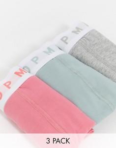 Набор из 3 трусов (хаки, розовый, серый) Topman-Мульти