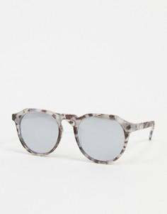 Круглые черепаховые солнцезащитные очки Jack & Jones-Серый