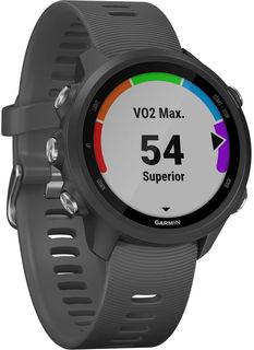 Спортивные часы Garmin Forerunner 245 серый ремешок (черный)
