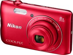 Цифровой фотоаппарат Nikon COOLPIX A300 (красный)