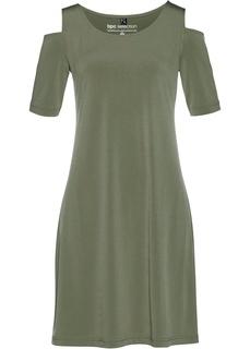 Платье с вырезами на плечах Bonprix