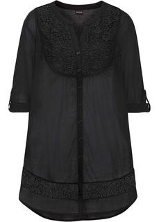 Блузки с длинным рукавом Туника удлиненная Bonprix