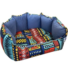 Лежак для животных Foxie Ethnics 43х36 см синий