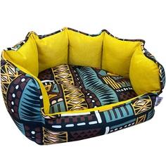 Лежак для животных Foxie Ethnics 43х36 см желтый