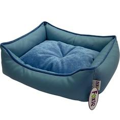 Лежак для животных Foxie Leather 60х50х18 см голубой
