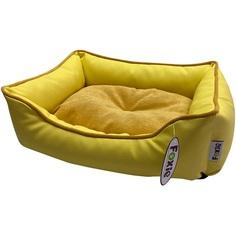Лежак для животных Foxie Leather 52х41х10 см желтый