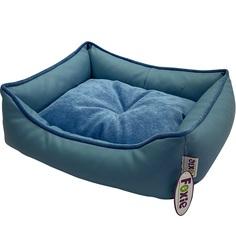 Лежак для животных Foxie Leather 52х41х10 см голубой