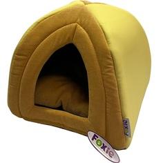 Домик для животных Foxie Leather 40х40х40 см желтый