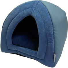 Домик для животных Foxie Leather 40х40х40 см голубой