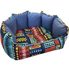 Лежак для животных Foxie Ethnics 53х46 см синий