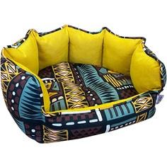 Лежак для животных Foxie Ethnics 53х46 см желтый