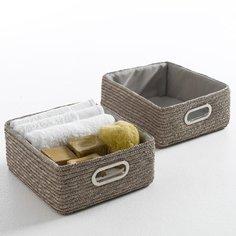 Комплект из плетеных корзин La Redoute
