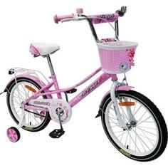 Велосипед AVENGER 16 LITTLE STAR, розовый/белый