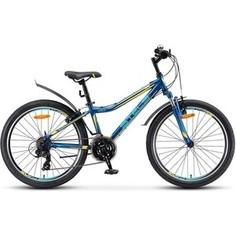 Велосипед Stels Navigator 410 V 24 21 sp V010 (2018) 13 Темно синий/желтый