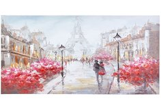 Репродукция 100x50 см Прогулка в Париже Hoff
