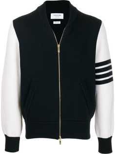 Thom Browne куртка-босбер на молнии с полосками 4-Bar
