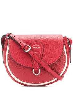 Fendi сумка полукруглой формы с декоративной строчкой