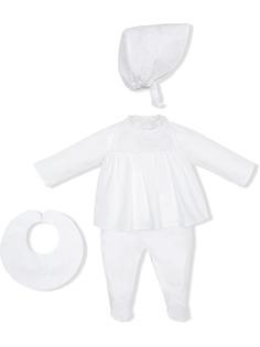 Fendi Kids комплект Bunx из ромпера, нагрудника и шапки