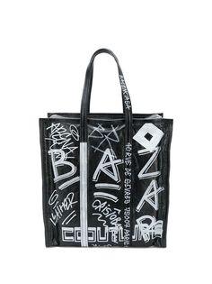 Balenciaga сумка-шоппер Bazar M с принтом в стиле граффити