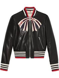 Gucci куртка-бомбер с бантом