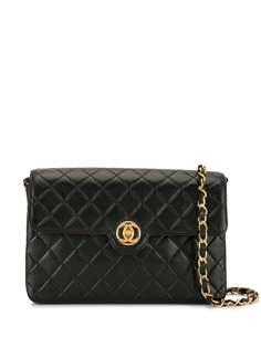 Chanel Pre-Owned стеганая сумка через плечо с цепочкой