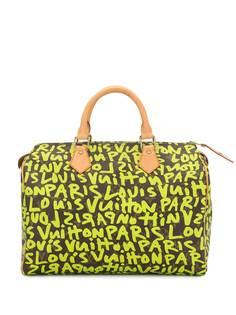 Louis Vuitton сумка Speedy 30 с принтом граффити