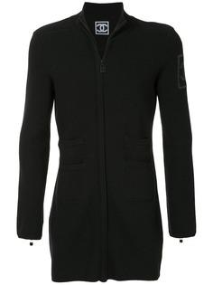 Chanel Pre-Owned облегающая куртка с логотипом