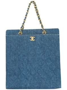 Chanel Pre-Owned джинсовая сумка-тоут