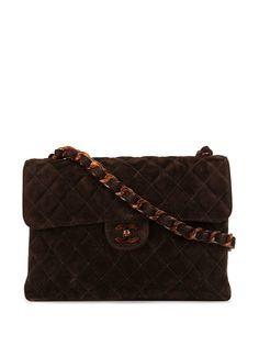 Chanel Pre-Owned стеганая сумка на плечо с логотипом CC