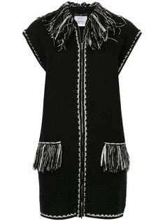Chanel Pre-Owned жилетка без рукавов с бахромой