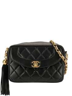 Chanel Pre-Owned стеганая сумка на плечо 1992-го года с логотипом CC