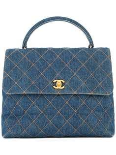 Chanel Pre-Owned стеганая джинсовая сумка