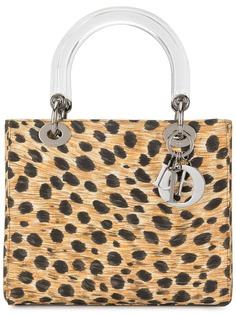 Christian Dior сумка Lady Dior с гепардовым принтом