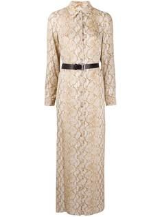 Michael Michael Kors платье-рубашка со змеиным принтом