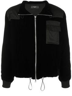 AMIRI бархатная куртка Commando со вставками