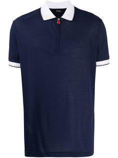 Kiton рубашка-поло с контрастным воротником и логотипом
