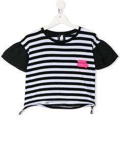 Cinzia Araia Kids полосатая футболка с кулиской