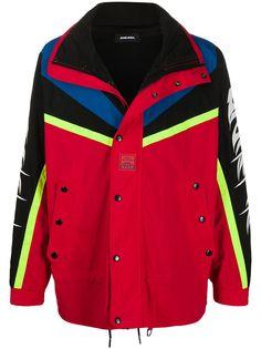 Diesel спортивная куртка в стиле колор-блок