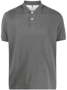 Brunello Cucinelli рубашка поло с воротником в рубчик