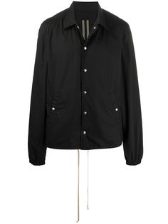 Rick Owens DRKSHDW куртка-рубашка свободного кроя с принтом