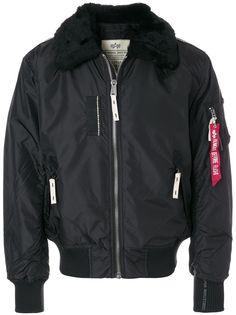 Alpha Industries куртка-бомбер с меховым воротником