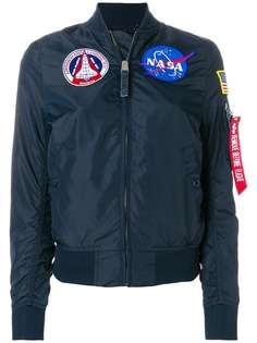 Alpha Industries куртка-бомбер с заплаткой NASA