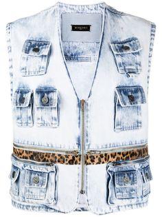Simonetta Ravizza джинсовая куртка на молнии без рукавов