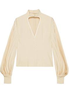 Gucci блузка с вырезами