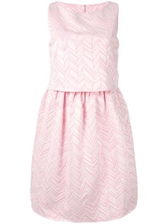Emporio Armani многослойное платье мини с баской