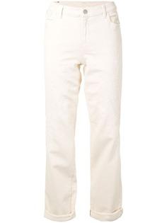 Emporio Armani джинсы прямого кроя с вышивкой