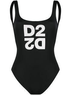 Dsquared2 слитный купальник с логотипом