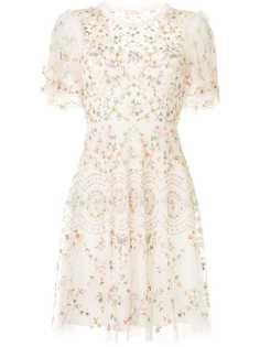 Needle & Thread платье Sweet Petal с вышивкой